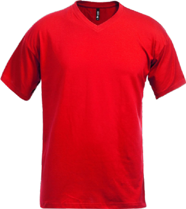 Fristads Acode V-Neck T-Shirt 1913 BSJ (Red)